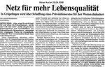 """Netz für mehr Lebensqualität """"Weser Kurier 28.04.2008"""""""