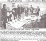 """Oslebshauser Polizeirevier jetzt offiziell eingeweiht """"Bremer Westen 23.11.2006"""""""
