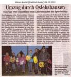 """""""Umzug durch Oslebshausen"""" Weser Kurier 06.10.2013"""