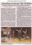"""Standing Ovations"" für 50 Kids ""Weser Kurier 12.05.2013"""