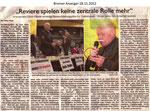 """""""Reviere spielen keine zentrale Rolle mehr"""" """"Bremer Anzeiger 18.11.2012"""""""