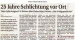 """25 Jahre Schlichtung vor Ort """"Weser Report 08.05.2013"""""""