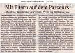 """Mit Eltern auf dem Parcours Weser Kurier 12.05.2013"""""""