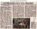 "In Oslebshausen hat er sich wohlgefühlt ""Weser Kurier 09.07.2012"""