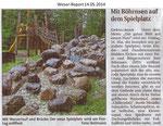 """""""Mit Böhrnsen auf dem Spielplatz"""" Weser Report 14.05.2014"""