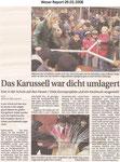"""Das Karussell war dicht umlagert """"Weser Report 09.03.2008"""""""