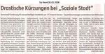 """Drastische Kürzungen bei """"Sozialer Stadt"""" """"Taz Nord 06.02.2008"""""""
