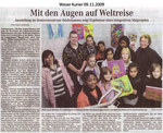 """Mit den Augen auf Weltreise """"Weser Kurier 09.11.2009"""""""