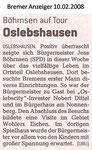 """Böhrnsen auf Tour - Oslebshausen """"Bremer Anzeiger 10.02.2008"""""""