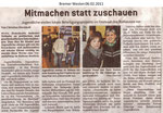 """Mitmachen statt zuschauen """"Bremer Westen 06.02.2011"""""""
