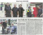 "Am Ende der Kriminalitätsskala ""Weser Kurier 18.08.2008"""