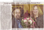 "Mester gratuliert seiner Nachfolgerin im Ortsamt West ""Weser Kurier 11.03.2013"""