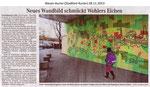 """Neues Wandbild schmückt Wohlers Eichen"" Weser Kurier 28.11.2013"