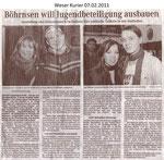 """Böhrnsen will Jugendbeteiligung ausbauen """"Weser Kurier 07.02.2011"""""""