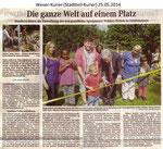 """""""Die ganze Welt auf einem Platz"""" Weser Kurier 25.05.2014"""