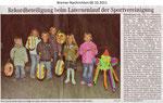 """Rekordbeteiligung beim Laternelauf der Sportvereinigung """"Bremer Nachrichten 06.10.2011"""""""