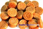 Knuspermünzen mit Nugatfüllung