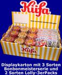 Displaykarton mit Bonbon- und Lollypackungen