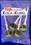 Cola-Ball Pack, 4 lollipops/bag, carton with 15 bags