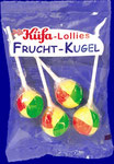 Fruit-Ball Pack, 4 lollipops/bag, 15 bags/carton