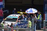 Tom Coronel's auto in de pitbox