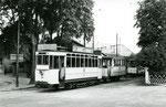 Fontaiebleau-T-007 : Gare de Fontainebleau-Avon. Motrice n°12. Cliché Jacques BAZIN. 19 juillet 1953