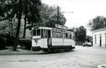 Fontainebleau-T-002 : Gare de Fontainebleau-Avon. Motrice n°14. Cliché Jacques BAZIN. 4 mai 1952