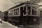 Motrice de type X construite pour la voie métrique en 1938 et convertie pour la voie large de 1524 mmm en 1950. STTS/Archives de l'Etat de Russie