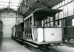 Fontainebleau-T-055 : Remorque baladeuse n°11 au musée des Transports Urbains, à Saint-Mandé. Cliché Jacques BAZIN