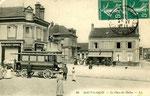 Fontainebleau-T-069 : Samois-sur-Seine. L'électrobus, ancêtre du trolleybus qui précéda le tramway.