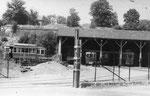Besançon-018 : Le dépôt des tramways. Cliché Christian Schnabel, août 1948