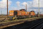 Les AUbrais. 27 octobre 2018. Locomotive de type Vossloh G 1206 n°9 de la société Colas. Cliché Pierre Bazin