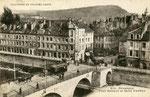 Besançon-002 : Le Quai Battant et le Pont Battant, reconstruit une première fois en 1953, il le sera de nouveau refait et élargi pour le nouveau tramway qui doit être mis en service en 2014.