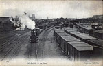 L'ancienne gare des marchandises, qui était située sur le flanc ouest de la gare, côté avenue de Paris