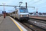 Les Aubrais. 16 janvier 2019. Locomotive BB 26003. Train 14055 Paris - Orléans. Cliché Pierre Bazin