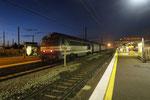 Les Aubrais. 21 octobre 2017. Locomotive A1A-A1A 68540 de l'association AAATV. Train spécial en provenance de Paris-Austerlitz. Cliché Pierre Bazin