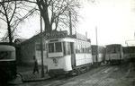 Fontainebleau-T-009 : Gare de Fontainebleau-Avon. Motrice n°14. Cliché Jacques BAZIN. 11 novembre 1950