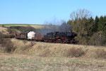 Dockweiler. 6 avril 2010. Locomotive 150 n° 50-2740. Train de fret spécial Gerolstein - Ulmen. Cliché Pierre BAZIN