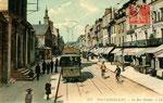 Fontainebleau-T-034 : Rue Grande et église Saint-Louis.