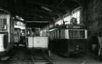 Fontainebleau-T-067 : Dépôt RATP de Malakoff. Remorque baladeuse n°19 préservée par le musée des Transports Urbains. Cliché Jacques BAZIN