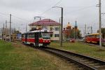 Krasnodar-T-018 : Motrice Tatra T3SU n° 008 de 1980, au départ du terminus de Rozdestsvenskiy-Khram avec un service de la ligne 11 vers la gare centrale de Krasnodar I. Cliché Pierre BAZIN, 23 octobre 2013