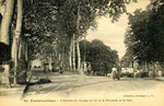 Fontainebleau-T-012 : Avon. Avenue du Chemin de Fer avec à gauche la voie menant vers Vulaines et Samois et à droite la voie conduisant à la gare.