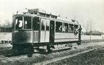 Motrice au benzène du tramway suburbain de Pashkovskaya. Photo prise entre 1912 et 1914, fournie par l'association STTS
