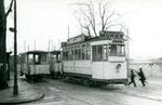 Fontainebleau-T-008 : Gare de Fontainebleau-Avon. Motrice n°15. Cliché Jacques BAZIN. 26 décembre 1953