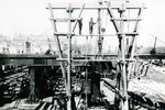 Travaux de la gare d'Austerlitz pendant la construction du métro (actuelle ligne 5)