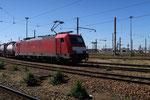 Les Aubrais. 19 avril 2016. Locomotive E 186-336 de la Deutsche Bahn. Cliché Pierre Bazin
