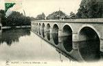Orléans-T-036 : le pont sur le Loiret à Olivet, vu depuis la guinguette de l'Eldorado