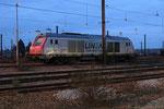 Les Aubrais. 16 janvier 2019. Locomotive BB 75011 de la société Lineas. Cliché Pierre Bazin