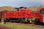 Dépôt de Gerolstein. 1er avril 2010. Locomotive V60 n° 1184 du Vulkan Eifel Bahn (VEB). Cliché Pierre BAZIN