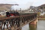 Viaduc de Bullay sur la Moselle. 5 avril 2010. Locomotive 231 n° 01-509. Cliché Pierre BAZIN